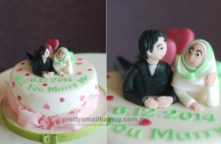 kek kawin muslimah yang comel, kek hantaran, kek kahwin, kek anwar nak jadi PM