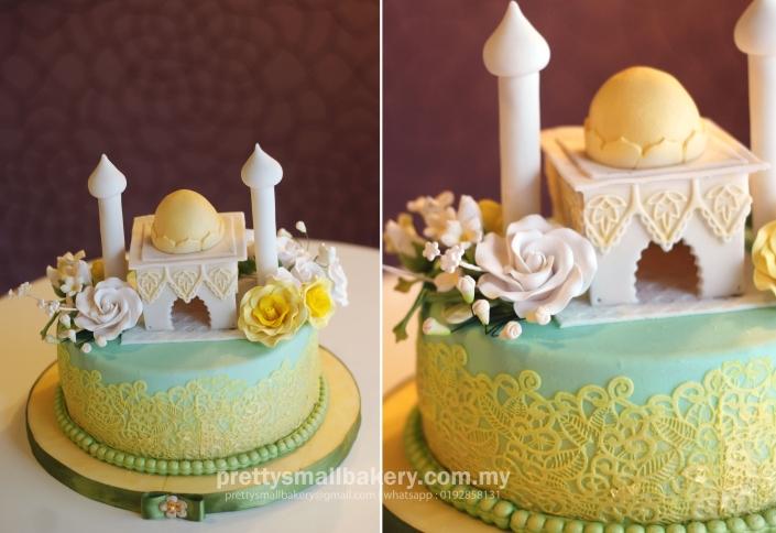 kek kahwin, kek masjid